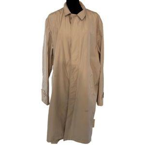 DKNY tan long lightweight trench coat